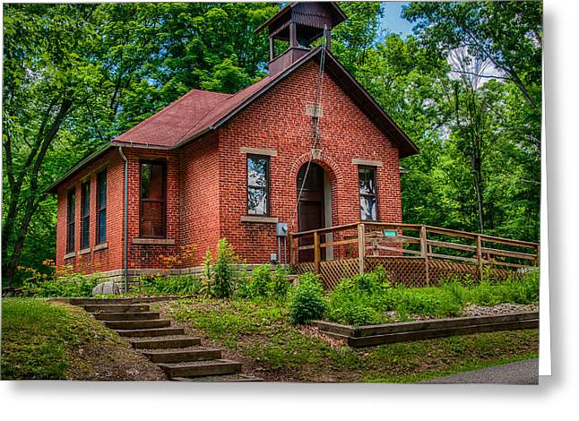 Historic One Room School House Greeting Card by Gene Sherrill