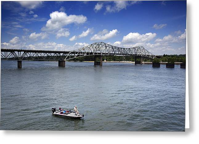 Historic Oneal Bridge On The Tennessee River In Florence Greeting Card