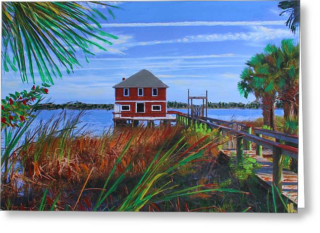 Historic Ormond Boathouse Greeting Card