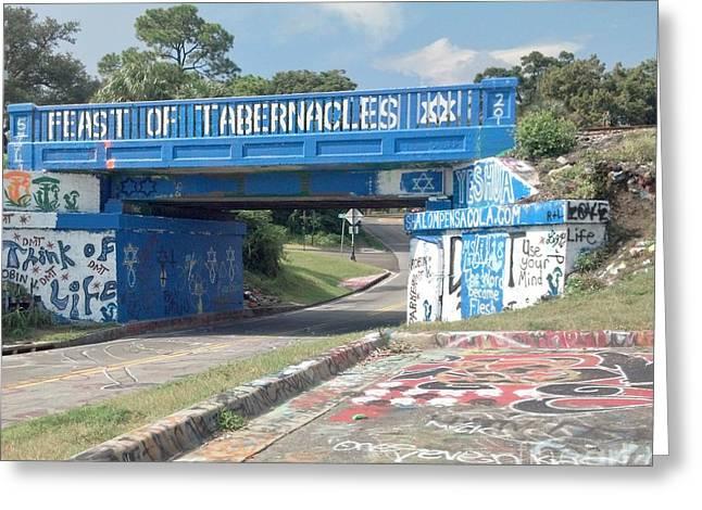 Historic Pensacola Graffiti Bridge Greeting Card