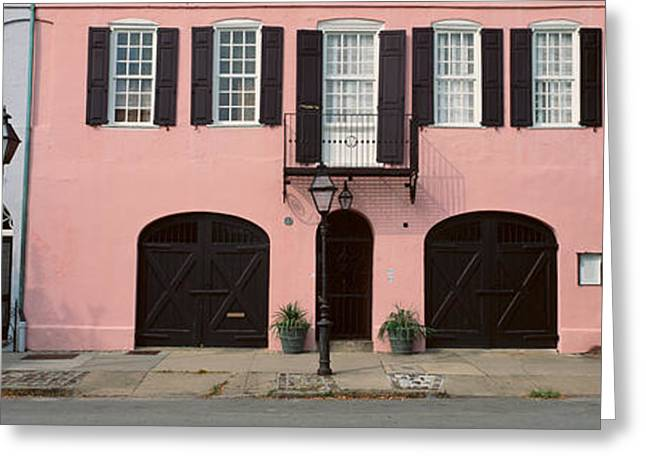 Historic Pink Home In Charleston, Sc Greeting Card