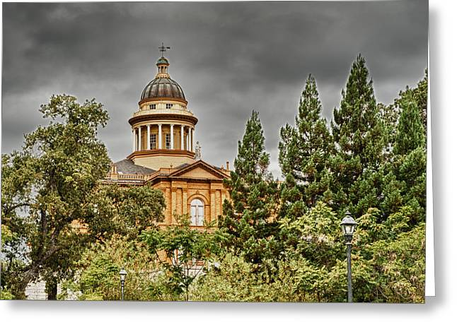 Greeting Card featuring the photograph Historic Placer County Courthouse by Jim Thompson