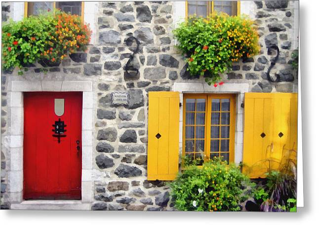 Historic Quebec City  Street Scene Greeting Card