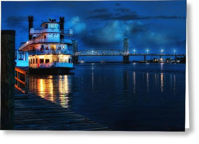 Historic Riverfront Greeting Card by Rafe Martin