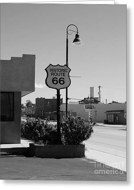 Historic Route 66 Greeting Card by Mel Steinhauer