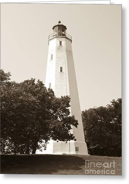 Historic Sandy Hook Lighthouse Greeting Card