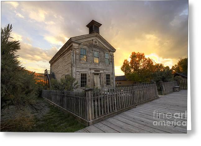 Historic School Bannack Montana 4 Greeting Card