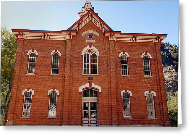 Historic School Building  Greeting Card by Ann Powell
