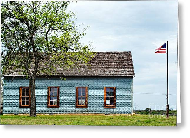 Historic School House Greeting Card by Gary Richards