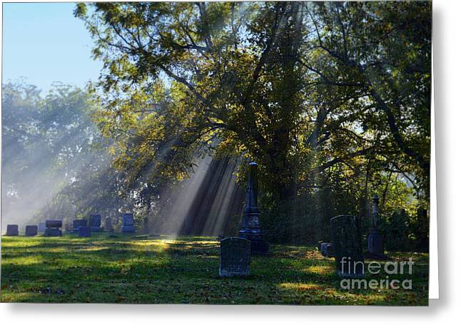 Historic Sibley Cemetery At Fort Osage Missouri Greeting Card by Catherine Sherman