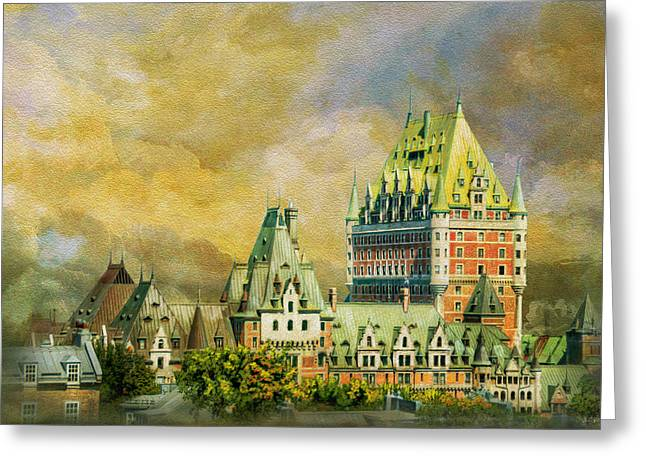 Historic Town Of Old Quebec 01 Greeting Card by Catf