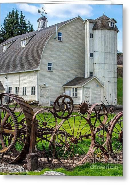 Historic Uniontown Washington Dairy Barn Greeting Card by Gary Whitton
