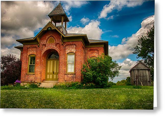 Historic Whitley Co School House Greeting Card by Gene Sherrill