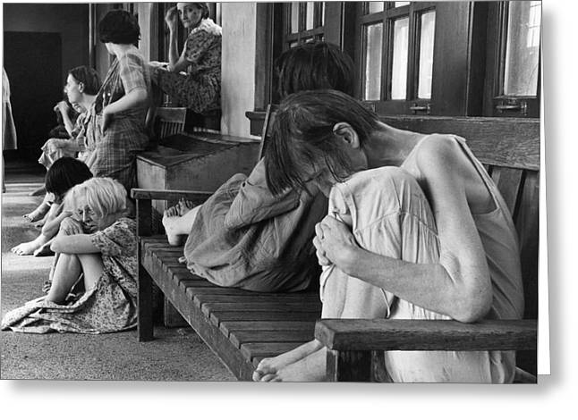 Historical 20st Century People Black And White Artwork 140 Greeting Card by Boon Mee