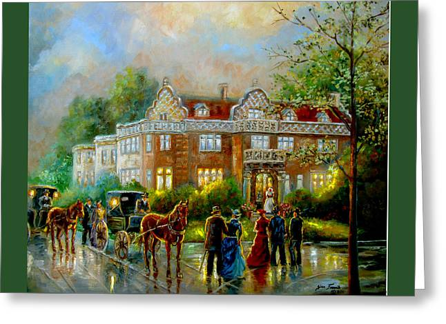 Historical Architecture Indiana Baker House Mansion  Greeting Card by Regina Femrite