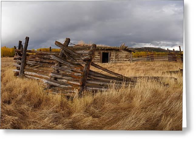 Historical Cabin Montana Greeting Card