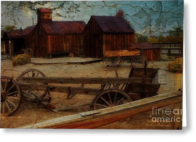 Historical Ferretto Ranch Greeting Card by Bobbee Rickard