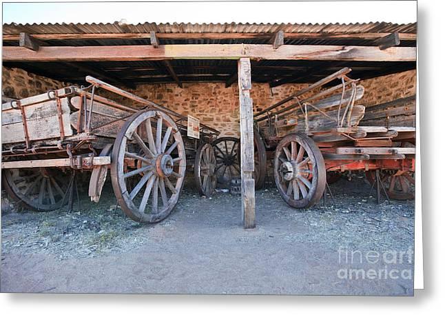Historical Horse Drawn Carts Greeting Card by Bill  Robinson