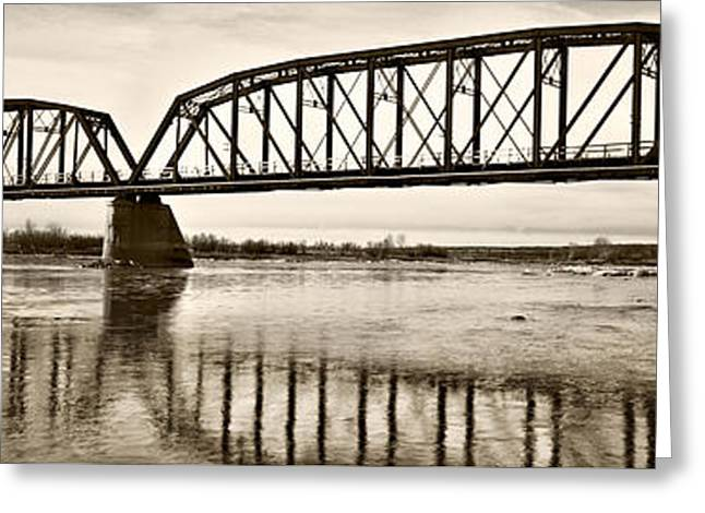 Historical Kinsey Bridge Greeting Card by Leland D Howard