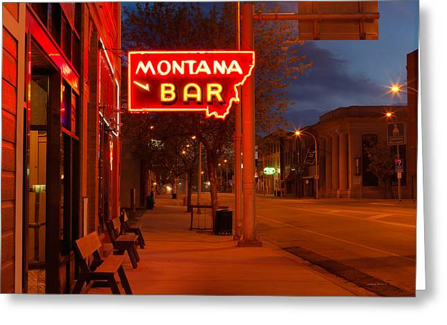 Historical Montana Bar Greeting Card by Leland D Howard