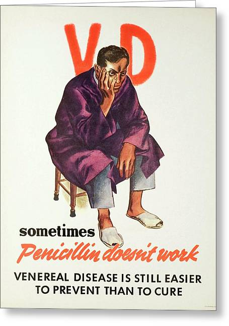 Historical Sexual Health Advert Greeting Card
