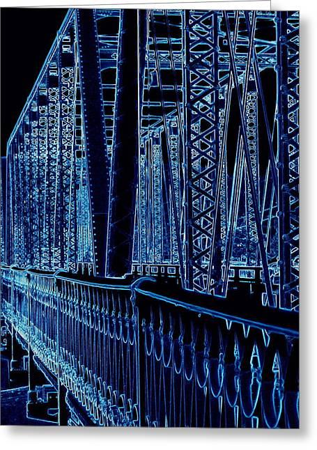 Historical Sixth Street Bridge Grand Rapids Michigan Greeting Card