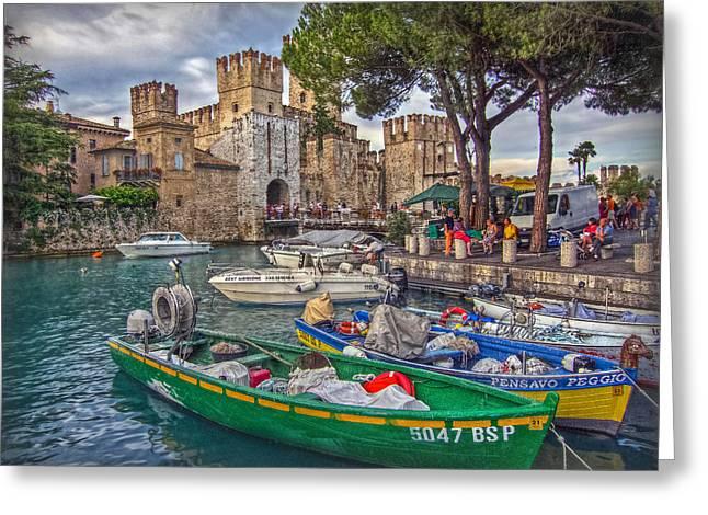 History At Lake Garda Greeting Card