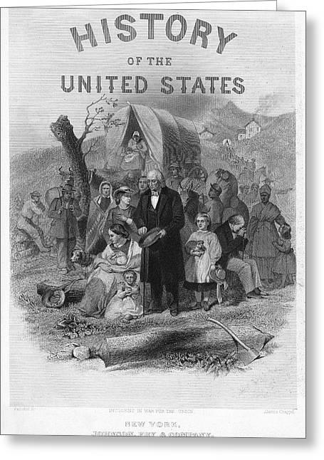 History Book, 1866 Greeting Card