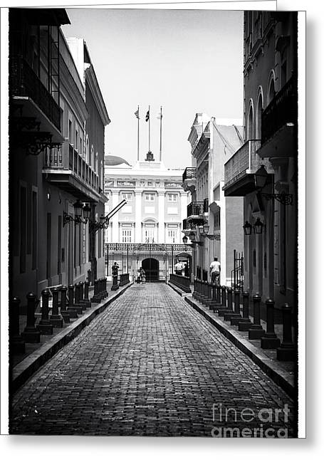 History In San Juan Greeting Card by John Rizzuto