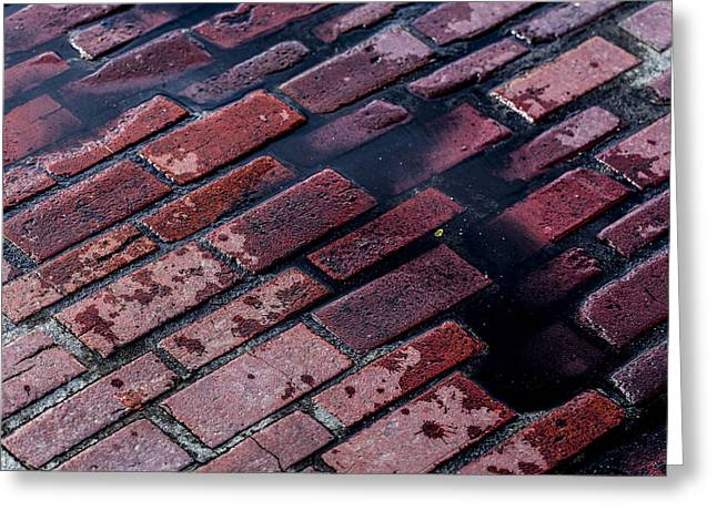 Hit The Bricks Greeting Card by Andrew Pacheco