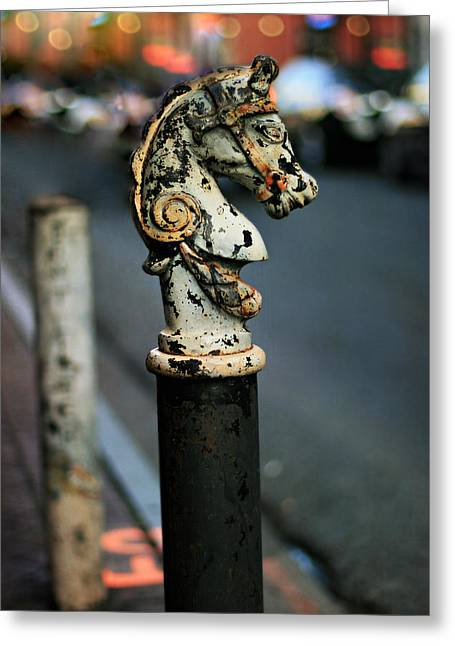 Greeting Card featuring the photograph Hitching Post #1 by Heather Green