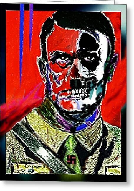 Hitler  - The  Face  Of  Evil Greeting Card