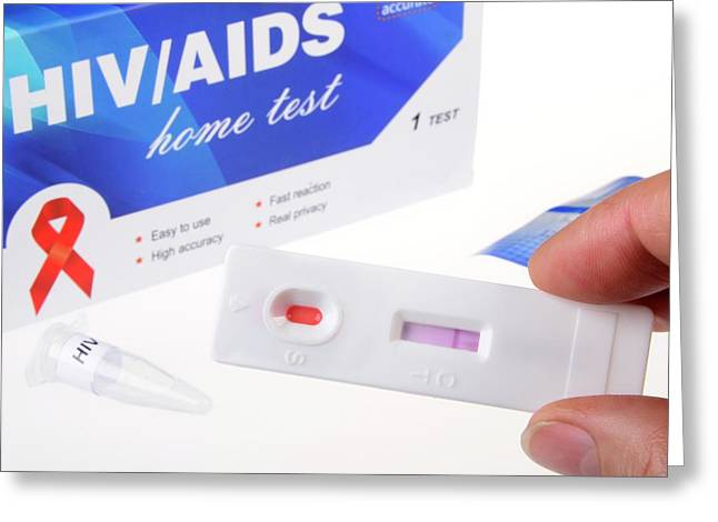 Hiv Home Blood Test Greeting Card by Cordelia Molloy