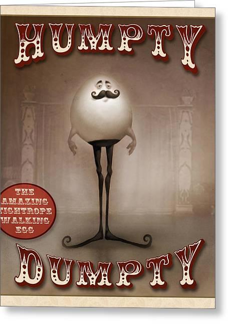 Humpty Dumpty Greeting Card by Adam Ford