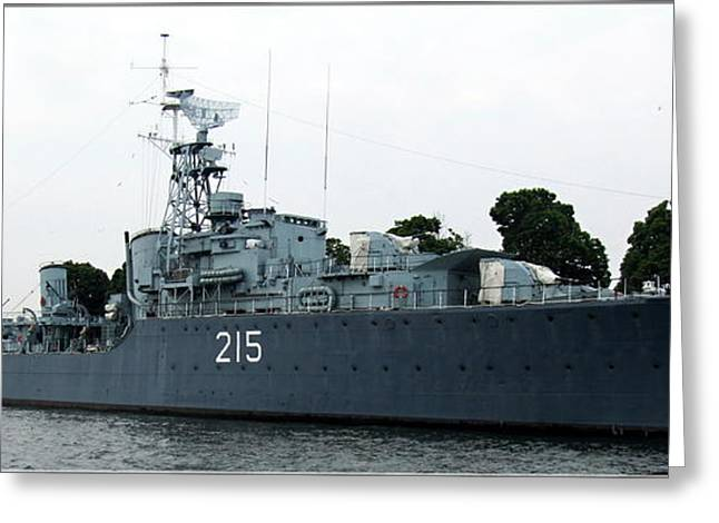 Hmcs Haida Twin Gun Tribal Class Destroyer  Greeting Card by Danielle  Parent