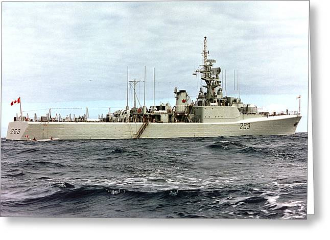 Hmcs Yukon - In Pacific Greeting Card