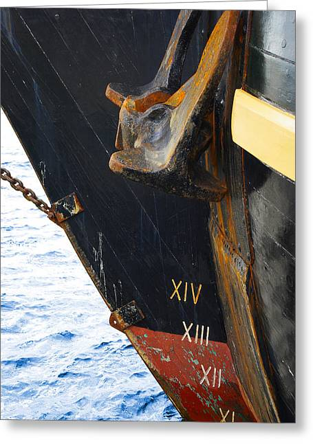 Hms Bounty Bow Greeting Card by Patricia Trudell
