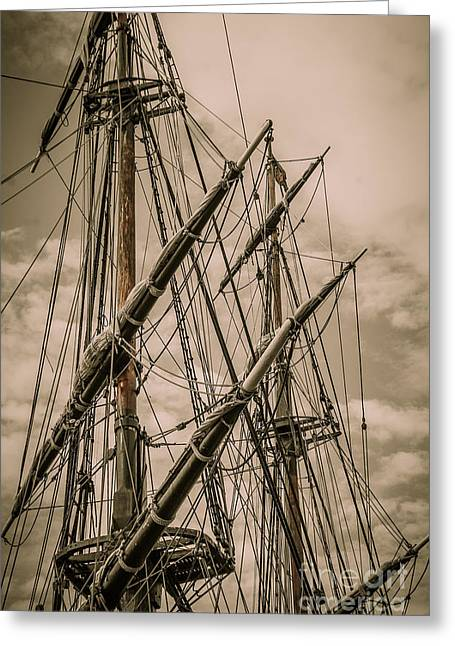 Hms Bounty Mast Greeting Card