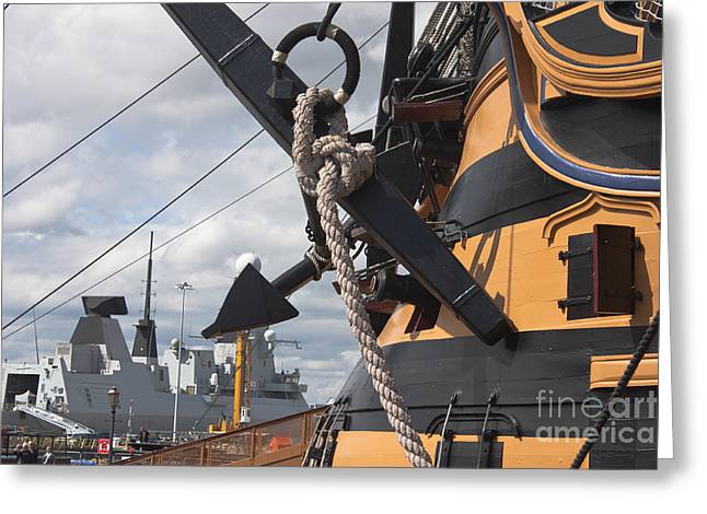 Hms Diamond And Hms Victory Greeting Card
