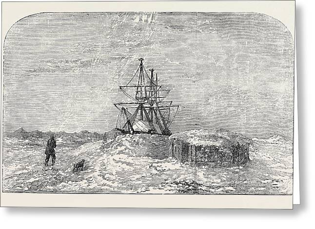 H.m.s. Enterprise In Winter Quarters Greeting Card by English School