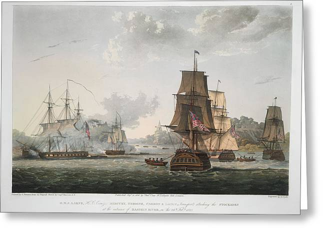 H.m.s Larne And Others Greeting Card by British Library
