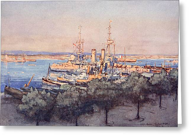 H.m.s. Queen, Trawlers And Drifters Greeting Card