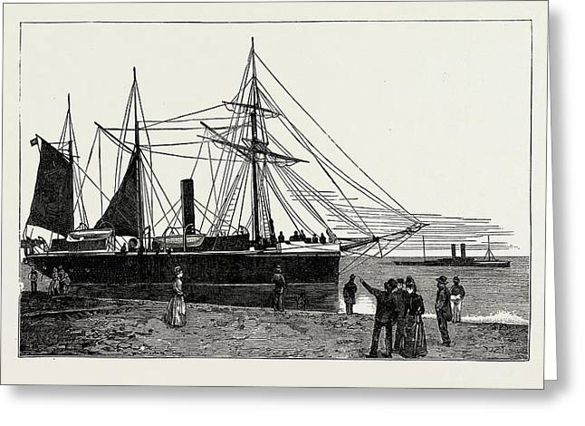 H.m.s. Watchful, Gunboat, Lowestoft Harbour Greeting Card by Litz Collection