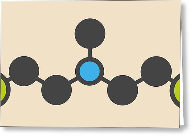 Hn2 Nitrogen Mustard Molecule Greeting Card by Molekuul