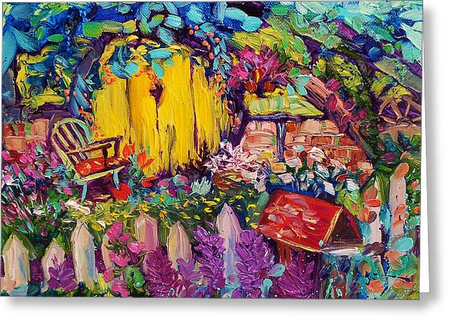 Hobbit House Oil Painting Greeting Card