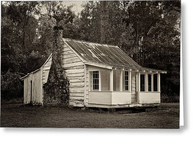 Hobcaw Cabin In Sepia Greeting Card by Sandra Anderson
