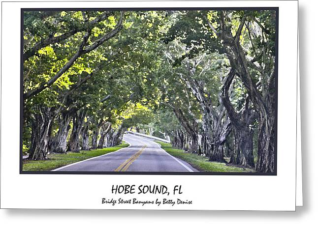 Hobe Sound Fl-bridge Street Banyans Greeting Card