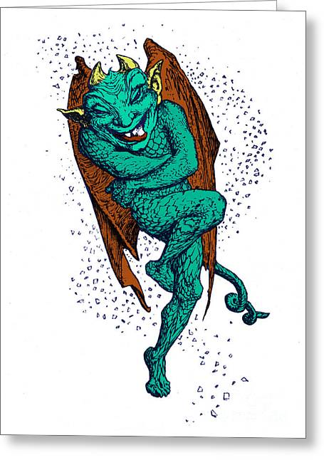 Hobgoblin Greeting Card by Photo Researchers