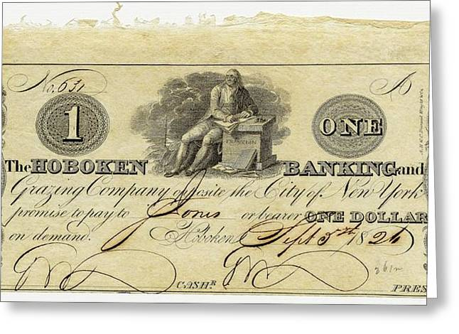 Hoboken Bank Note Greeting Card by American Philosophical Society