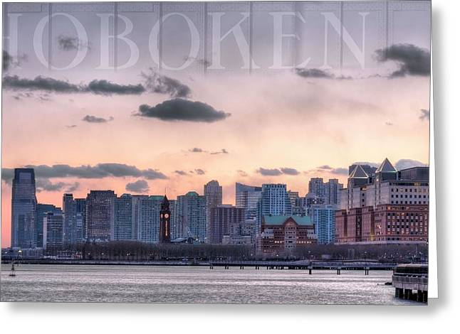Hoboken  Greeting Card by JC Findley